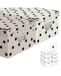 Juego 6 Cajas Cant. Cat Lover 2c  (21311196)