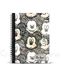 Cuaderno A4 Mickey Disney Oh Boy (8435376378583)