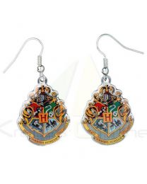 Pendientes Hogwarts Crest Harry Potter (5055583400384)