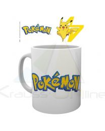 Taza Logo Pokemon And Pikachu (5028486388363)
