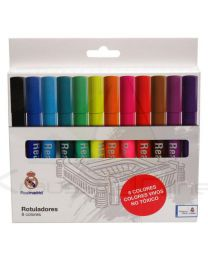 Caja Rotuladores Colores Real Madrid (8426842077871)