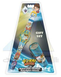Set reloj digital y linterna led de Yo-Kai Watch  (YK17011)
