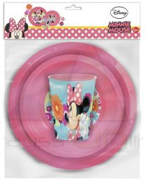 Set vaso, plato y cuenco de Minnie Mouse 'Bloom'  23710