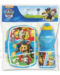 Set botella cantimplora sport y sandwichera de Paw Patrol 'Colours'  (82776)