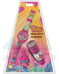 Set reloj digital y linterna led de Trolls  (TR17054)