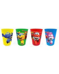 Set 4 vasos plastico de Super Wings  (SUE-SUA102478)
