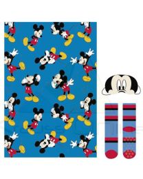 Set regalo manta, calcetines y antifaz de Mickey Mouse  (CD-22-3376)