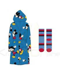 Set regalo bata y calcetines hogar de Mickey Mouse  (CD-22-3635)