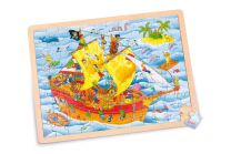 Puzzle 'Barco pirata' (Small Foot-cod.6843)