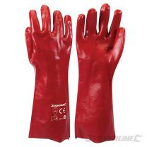 Guantes PVC color rojo (L 10)