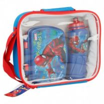 Set Bts 3 Pcs Botella Sport Easy 530 Ml,  Sandwichera Funny En Bolsa Aislante Rectangular Spiderman Graffiti - Stor 37941