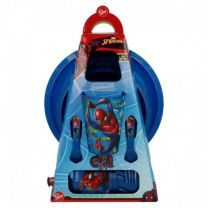 Set Easy 6 Pcs. (PLATO, Cuenco, Vaso, Botella Y Cubiertos) En Estuche spiderman Graffiti - Stor 37999