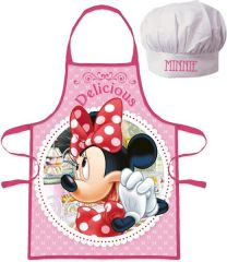Set Delantal Y Gorro Minnie  (8435507843485)