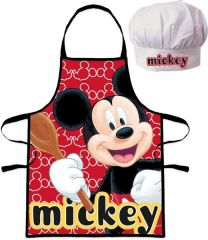 Set Delantal Y Gorro Mickey  (8435507843539)