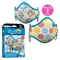 Pack 2 Mascarillas Premium Adulto De  Doraemon (8435435018672)