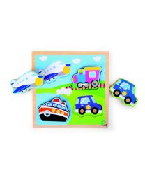 "Set de puzzles ""Transporte"" (Small Foot-cod.1491)"