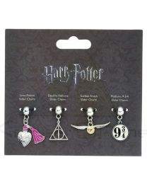 Set 4 colgantes charm Harry Potter surtido (5055583407185)