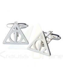 Gemelos Deathly Hallows Harry Potter plata (5055583414886)
