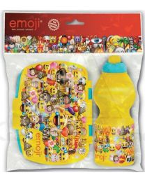 Set botella sport y sandwichera rectangular de Emoji