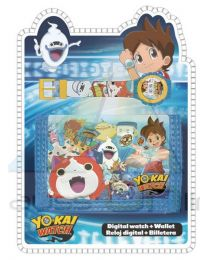 Set reloj de pulsera digital y billetera de Yo-Kai Watch  (YK17010)