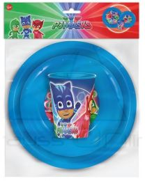 Set easy vaso, plato y cuenco de Pj Masks  (ST-01910)